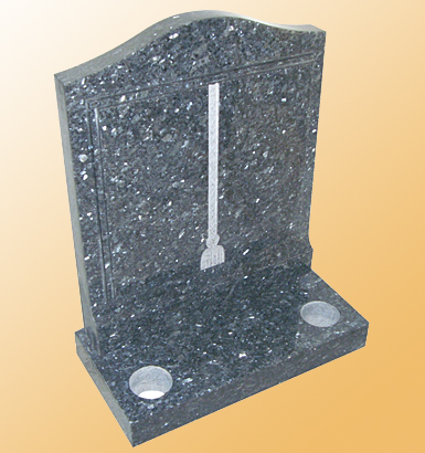 RP-5 - Book Headstone Memorial (Raised Hand Carved Book with C&T)